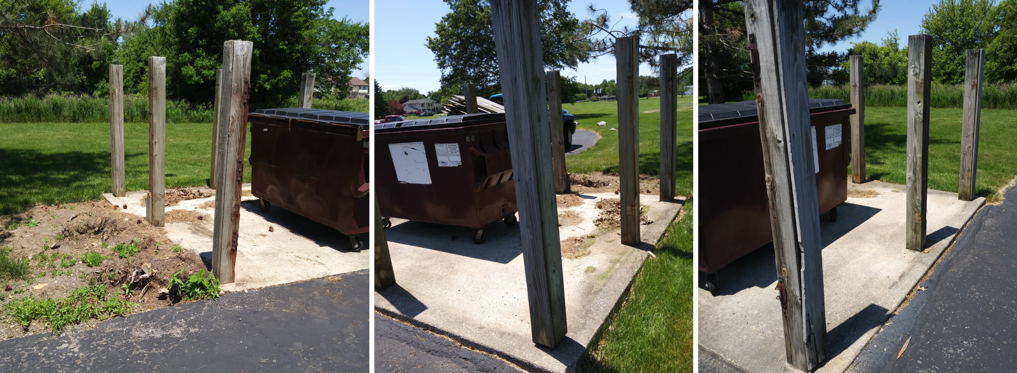 Dumpster fence replacement
