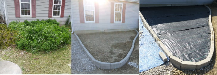 Before and After Walkway Job