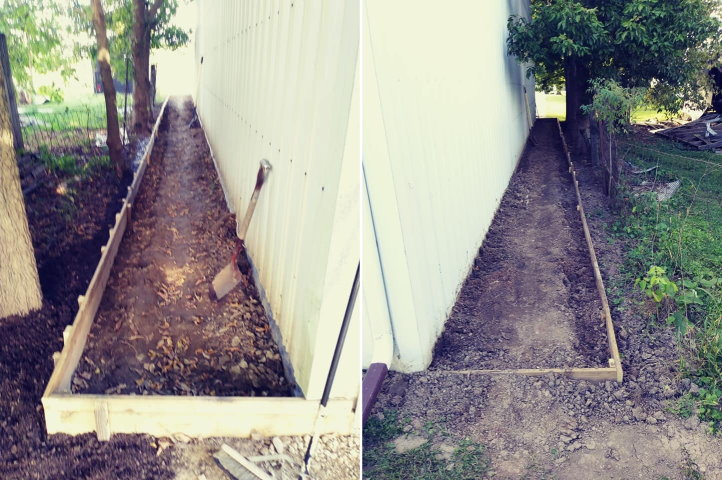 Retaining wall to prevent flppding in building